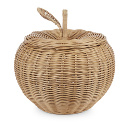 Корзина с крышкой в форме яблока APPLE LARGE STORAGE BASKET 43*36 (Natural)
