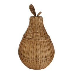 Корзина с крышкой в форме груши PEAR STORAGE BASKET 58*30 (Natural)