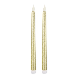 Штучні свічки SPARKLE SET OF 2 DINNER 28 * 2 (Gold)