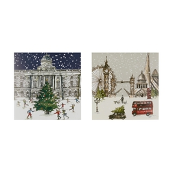 Новогодние открытки LONDON SCENE PACK OF 10 CHARITY CARDS 15*14,5 (Multi)