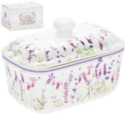 Нежная масленка Lavender Garden Ceramic Butter Dish 17*10*11 (Purple)