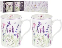 Набір з 2-х чашок Set Of 2 Ceramic Lavender Garden Mugs 8 * 12 * 11 (Purple)