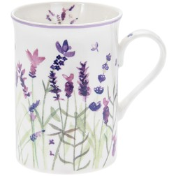 Чашка Tall Ceramic Lavender Garden Mug  8*10*11 (Purple)