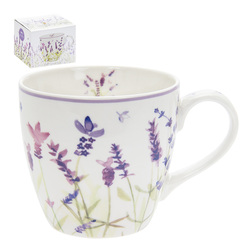 Чашка Jumbo Ceramic Lavender Garden Breakfast Mug  13*10*10 (Purple)