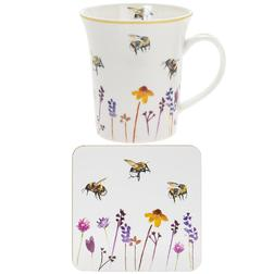 Чашка з підставкою Busy Bee Garden Mug and Coaster 8 * 12 * 11 (Multi)