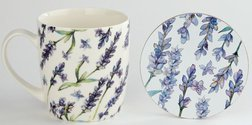Чашка з підставкою Purple Lavender Porcelain Mug & Coaster 12 * 9 * 9 (Purple)