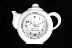 Часы в форме чайника TEA POT WALL 28*23 (White)