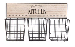 Кухонний органайзер KITCHEN STORAGE BASKETS 46 * 25 (Black)