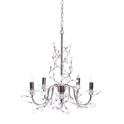 Люстра AUBREY CRYSTAL LEAF 5 ARM 53 * 58 (Chrome)