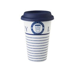 Фарфоровая чашка CANDY STRIPE COFFEE CUP 10*14,8, 330ml (Blue)