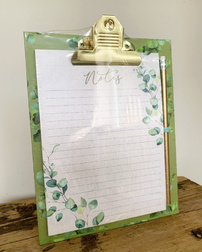 Набор для заметок EUCALYPTUS CLIPBOARD, A5 NOTEPAD & PENCIL SET 15*21 (Green)
