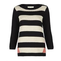 Вязанный полосатый пуловер JP 892