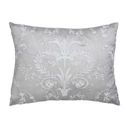 Декоративная подушка серого цвета с белой вышивкой JOSETTE EMB 30*40 (Dove Grey)