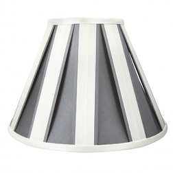 Абажур 12 ASCOT VERTICAL STRIPE (Silver)