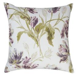 Квадратная подушка в тюльпаны сливового цвета GOSFORD 50*50 (Plum)
