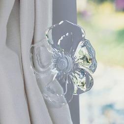 Держатель для штор со стеклянным цветком ISABELLA HOLDBACK (Clear)
