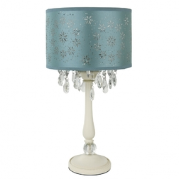 Настольная лампа с голубым абажуром LARA (Duck Egg)