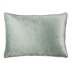 Прямоугольная плюшевая декоративная подушка NIGELLA VELVET 50*70 (Duck Egg)