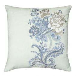 Квадратная декоративная подушка с цветочной вышивкой ROSE HILL 45*45 (Duck Egg)