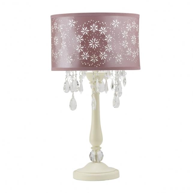 Настольная лампа с фиолетовым абажуром LARA (Amethyst)