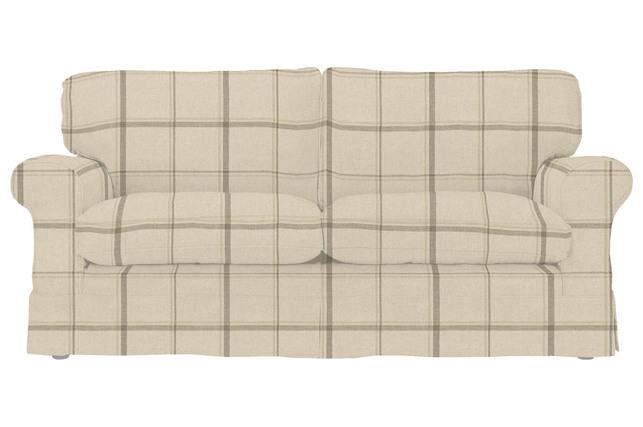 Большой диван в клетку бежевого цвета PADSTOW L2ST 89*195*96 (Band E/Loxley Check Natural)