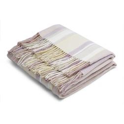 Мягкий плед в фиолетовую и желтую полоску EATON STRIPE 140*150 (Amethyst)
