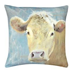 Декоративная квадратная подушка в стиле кантри с коровкой DAISY COW 43*43 (Multi)
