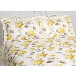 Набор постели самого большого размера в крупные желтые цветы HYDRANGEA KG 230*220, 50*75 set of-2 (C