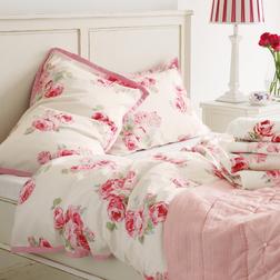 Набор постели большого размера в цветы розы COUTURE ROSE KG 230*220, 50*75 set of-2 (Pink)