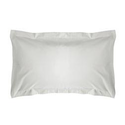 Набор из двух прямоугольных наволочек из хлопка белого цвета PLAIN DYE Pair 50*75 (White)