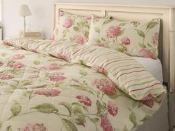Набор постели с пододеяльником двойного размера в крупные розовые цветы HYDRANGEA DB 200*200, 50*75