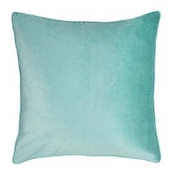 Плюшевая подушка красивого цвета бирюзы NIGELLA 50*50 (Azure)