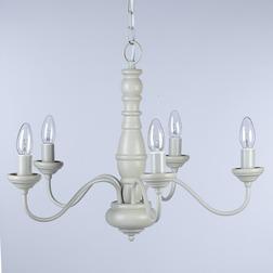 Люстра светло-серого цвета с деревянным каркасом MILNSBRIDGE 5 LIGHT (Dove Grey)