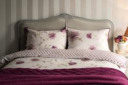 Набор постели с большим пододеяльником в крупные цветы NINETTE KG 230*220, 50*75 set of-2 (Pink)