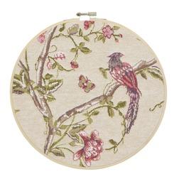Настенный декор с изображением птицы SUMMER PALACE Ø24 (Cranberry)