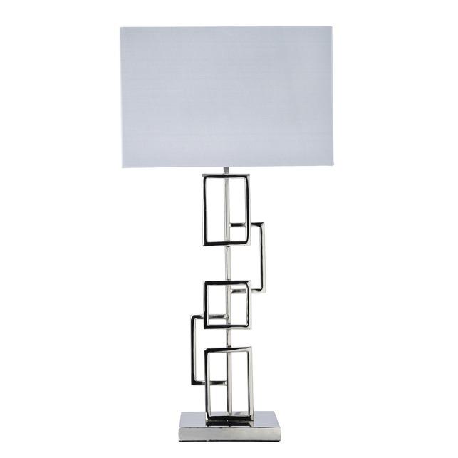 Настольная лампа в современном стиле FRASER SQUARE 51*31*18 (Chrome)
