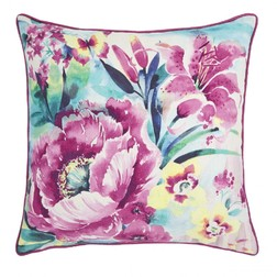 Большая подушка в яркие цветы орхидеи FRANCESCA 50*50 (Orchid)