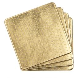 Набор подставок под чашку золотистого цвета LACQUER STAR SET 4 COASTERS (Gold)