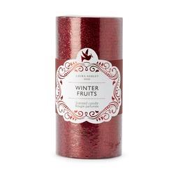 Большая ароматическая свеча красного цвета WINTER FRUITS PILLAR 15*8 (Red)