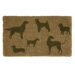 Коврик под дверь с силуэтами породистых собак DOGS DOORMAT 43*73 (Multi)