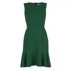 Приталенное платье зеленого цвета без рукава MD 089