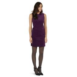 Вельветовое платье без рукава цвета смородины MD 002