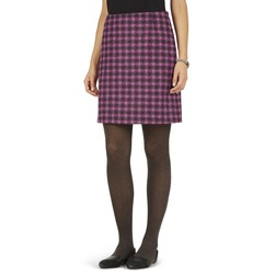 А-образная юбка из шерсти насыщенного розового цвета MS 921
