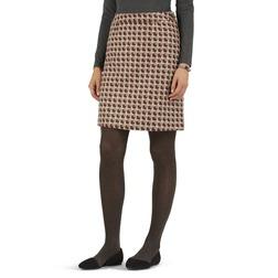 А-образная юбка из шерсти с гео принтом MS 923