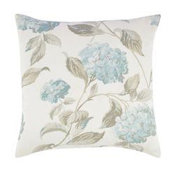 Декоративная подушка в голубые цветы гортензии HYDRANGEA 50*50 (Duck Egg)
