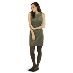 Вельветовое платье болотного цвета без рукава MD 003