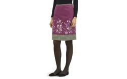 Велюровая юбка розового цвета с комбинированным принтом MS 899