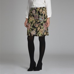 Гобеленовая юбка А-образной формы с цветочным узором MS 975