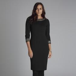 Приталенное платье черного цвета с глубоким вырезом на спине MD 159