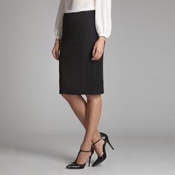 Текстурная юбка карандаш черного цвета MS 988